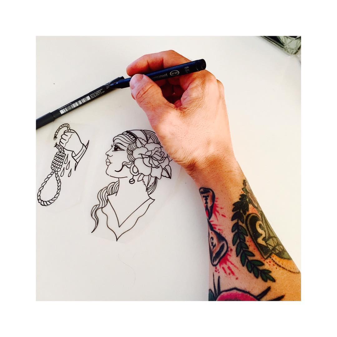 ink,tattooed,oldschool