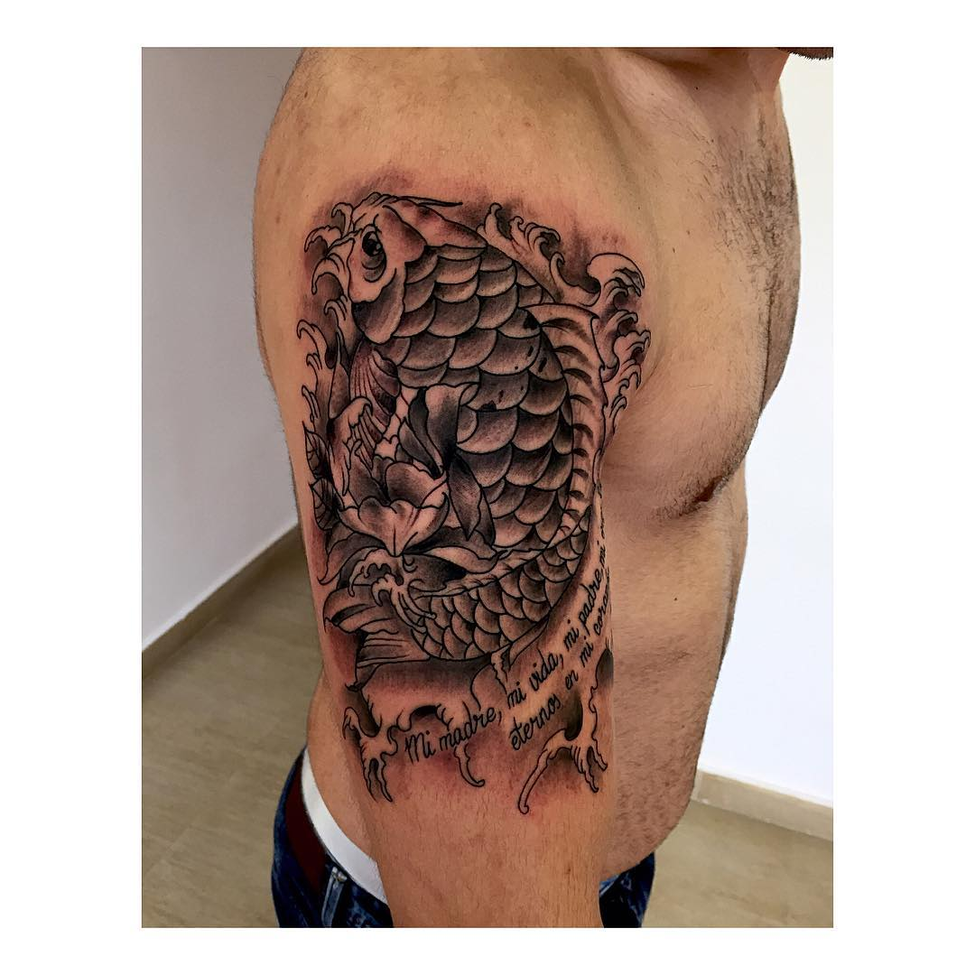 tattoo,tattooshoplife,thisiscolor,lifetattoo,thisisthelife,tatuajesenciudadreal,juantabascotattooer,juantabascotattooerciudadreal,japanese,koi,besttattooers,blackandgrey,fromalmagro,almagro,thisisthelife,blackandwhite,blackstattooers,tatuajesenciudadreal,familyfirst