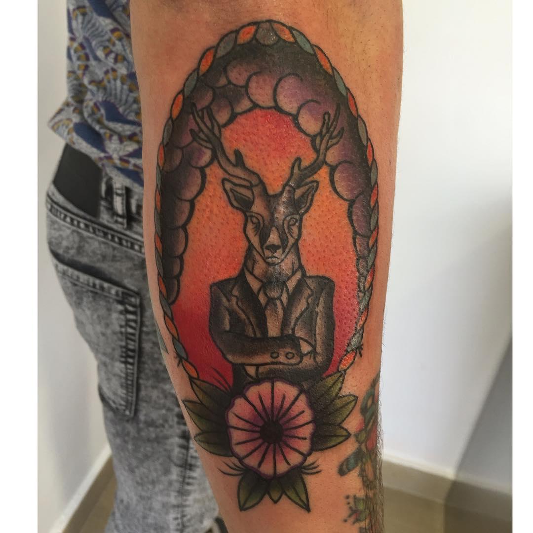 tattoo,tattoos,ciervo,ciervotattoo,ink,ink,inked,classictattoo,oldschooltattoo,tatuadores,tatuajes,tatu,eternalink,instagram,tattooshop,tattoospaiciudadreal,cheyenne,bishop,rotary,classictattoo,sailorjerry,customtattoo,black,blackandgrey,besttattoers